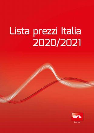 BFT LISTINO 2020 2021