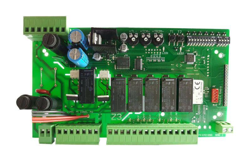 compatibile CAME ZA3 - Scheda doppio battente con comando serratura cod 3199ZA3