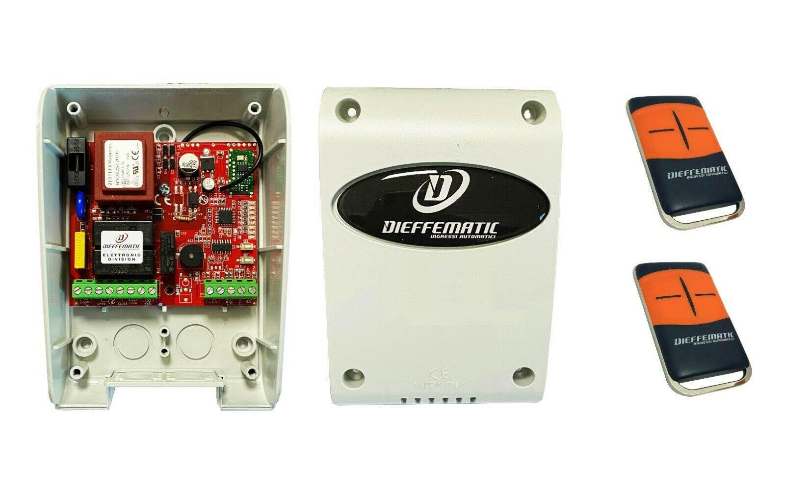 Centrale di comando universale per serrande avvolgibili con due 2 TX telecomandi