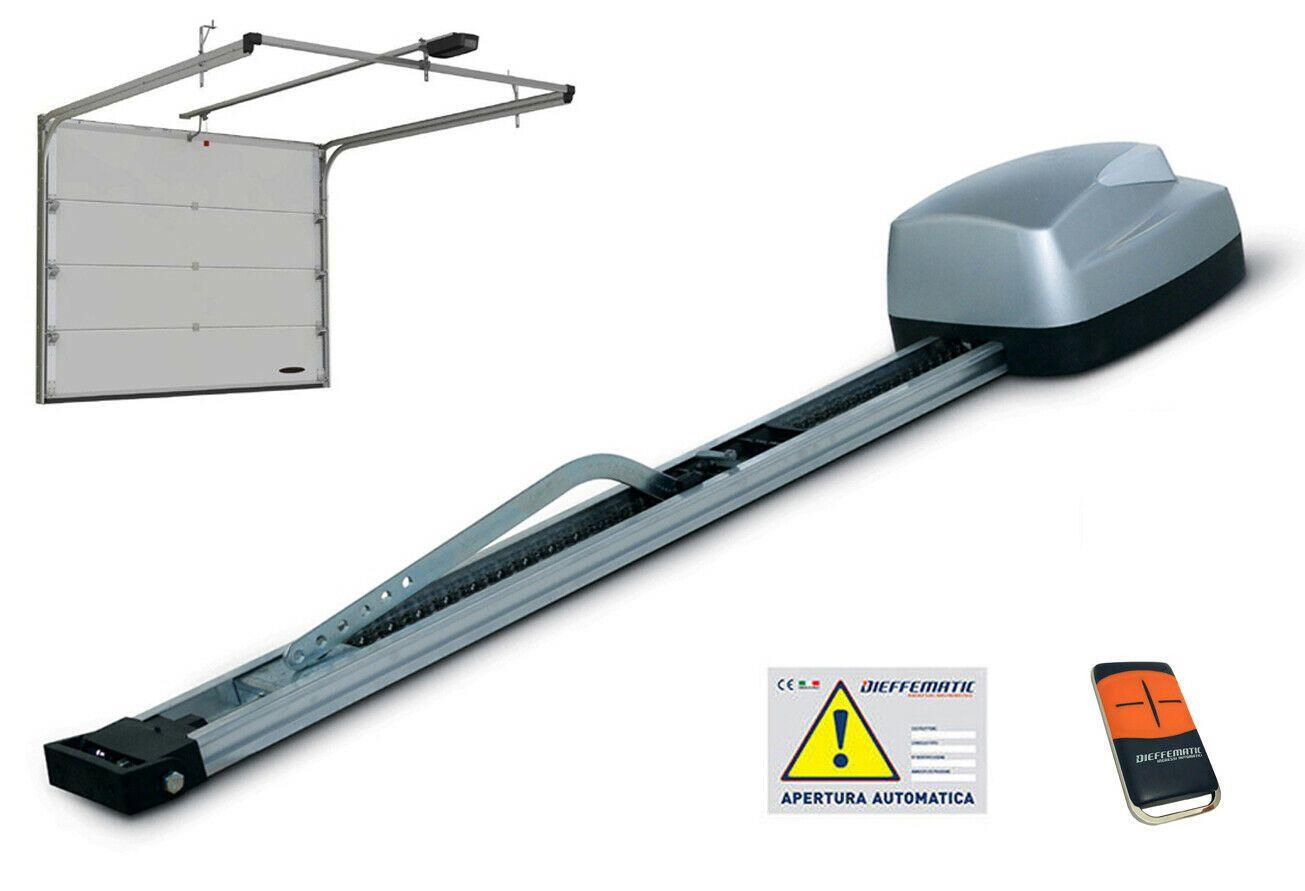 BASCULANTE AUTOMATICA KIT SOFFITTO AUTOMATISMO PORTE SEZIONALI BOX GARAGE 24V