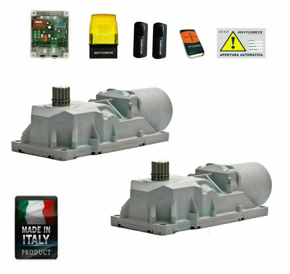 KIT AUTOMAZIONE CANCELLO DUE 2 ANTE BATTENTI BATTENTE INTERRATO 24v