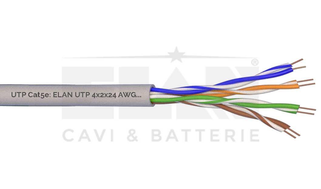 MATASSA CAVO LAN NETWORK UTP CAT 5E ELAN 098243 305 MT ORIGINALE GARANZIA NUOVO