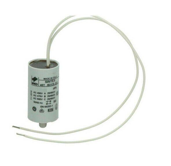 Condensatore da 20 UF mf microfarad per motori elettrici con cavi isolati 150mm