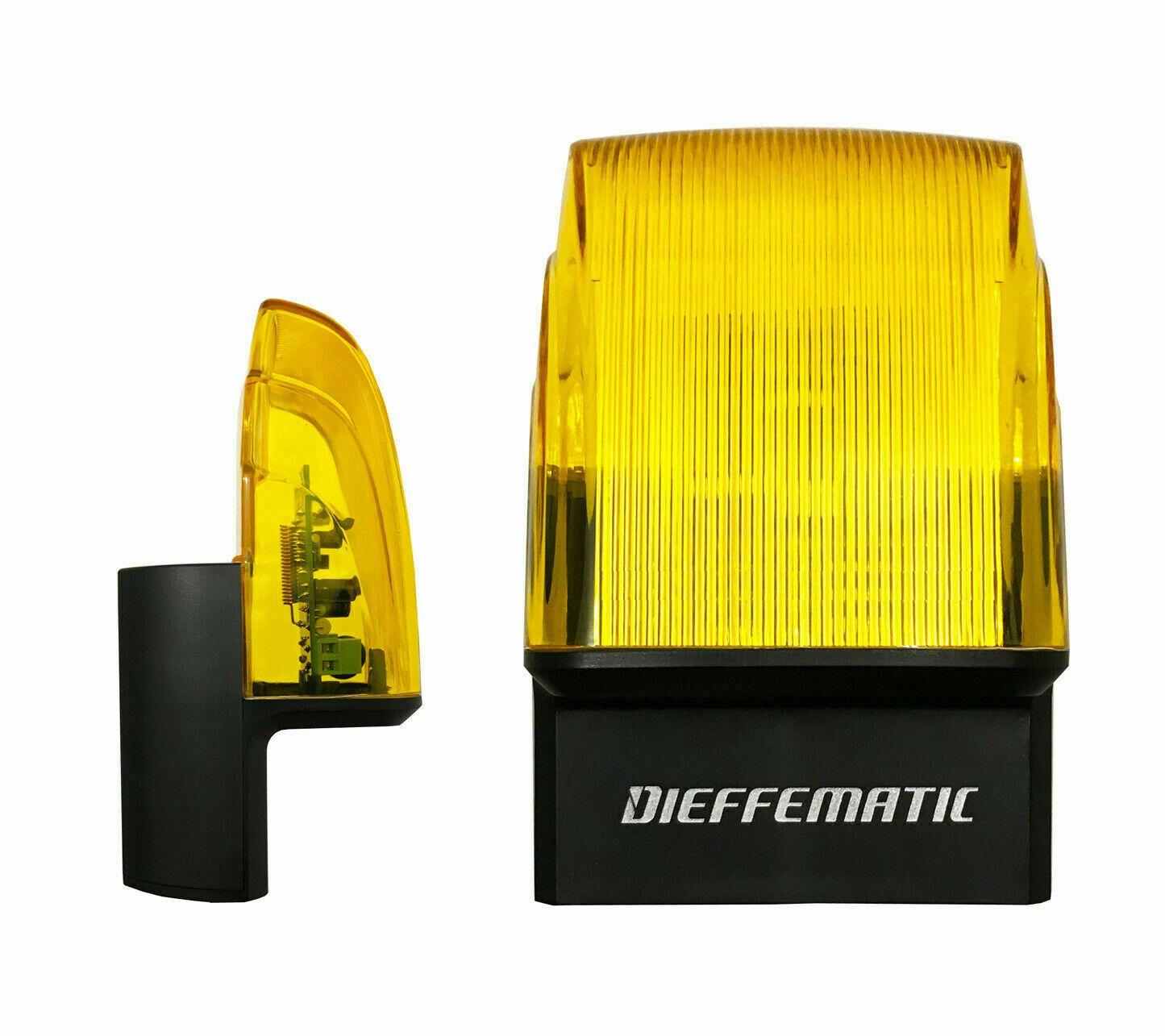 LAMPEGGIATORE LAMPEGGIANTE TRONCO CONO MOVIMENTO CANCELLO UNIVERSALE 230V LED