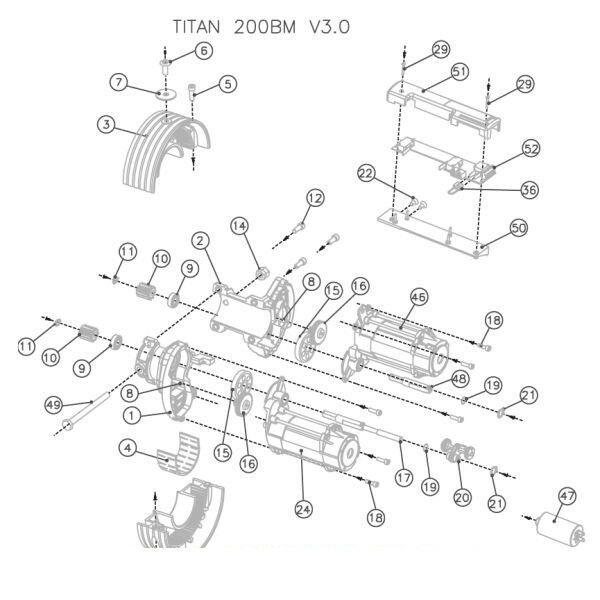 ALBERINO L RICAMBIO ORIGINALE PER TITAN 200BM V3.0 ACM 51130054 AUTOMAZIONE