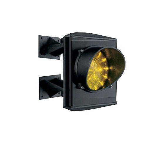 SEMAFORO GIALLO SINGOLA 1 LUCE 230V LED LAMPADA MONOLAMPADA PARCHEGGIO IMPIANTO