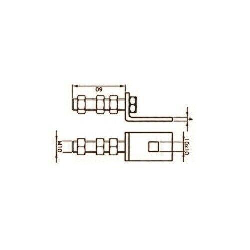 STAFFA CON REGOLAZIONE VERTICALE ACM ART.3024 1434240 AUTOMAZIONE AUTOMATISMI
