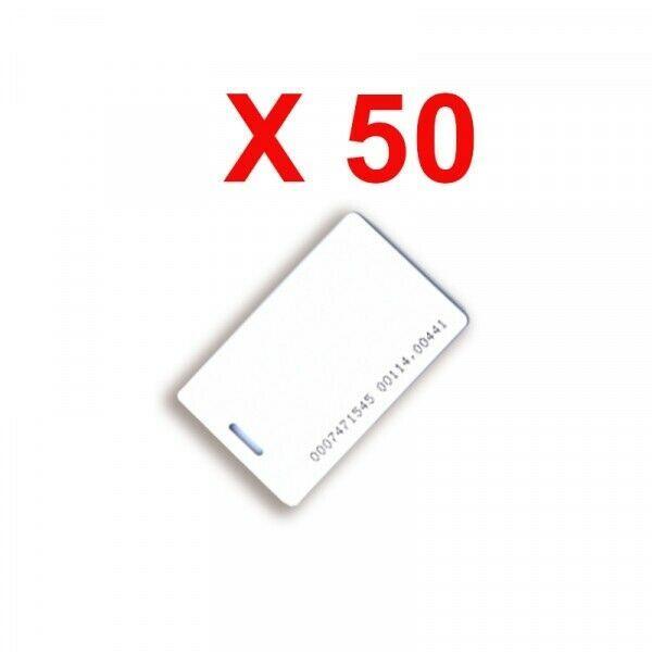 TESSERA DI PROSSIMITÀ ISO 50PZ XPR PBX-2-MS50-50 AUTOMAZIONE AUTOMATISMI NUOVO